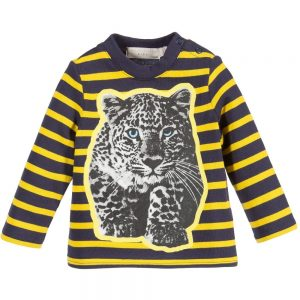 Stella Mccartney kids Baby Striped Leopard 'Ted' T-Shirt