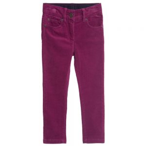 Stella Mccartney kids Girls Dark Pink Corduroy 'Nina' Trousers