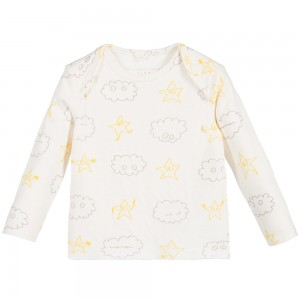 Stella Mccartney kids Ivory Stars & Clouds 'Buster' T-Shirt