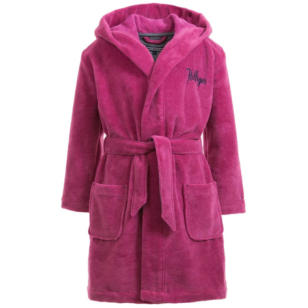 tommy-hilfiger-girls-dark-pink-cotton-towelling-bathrobe-1