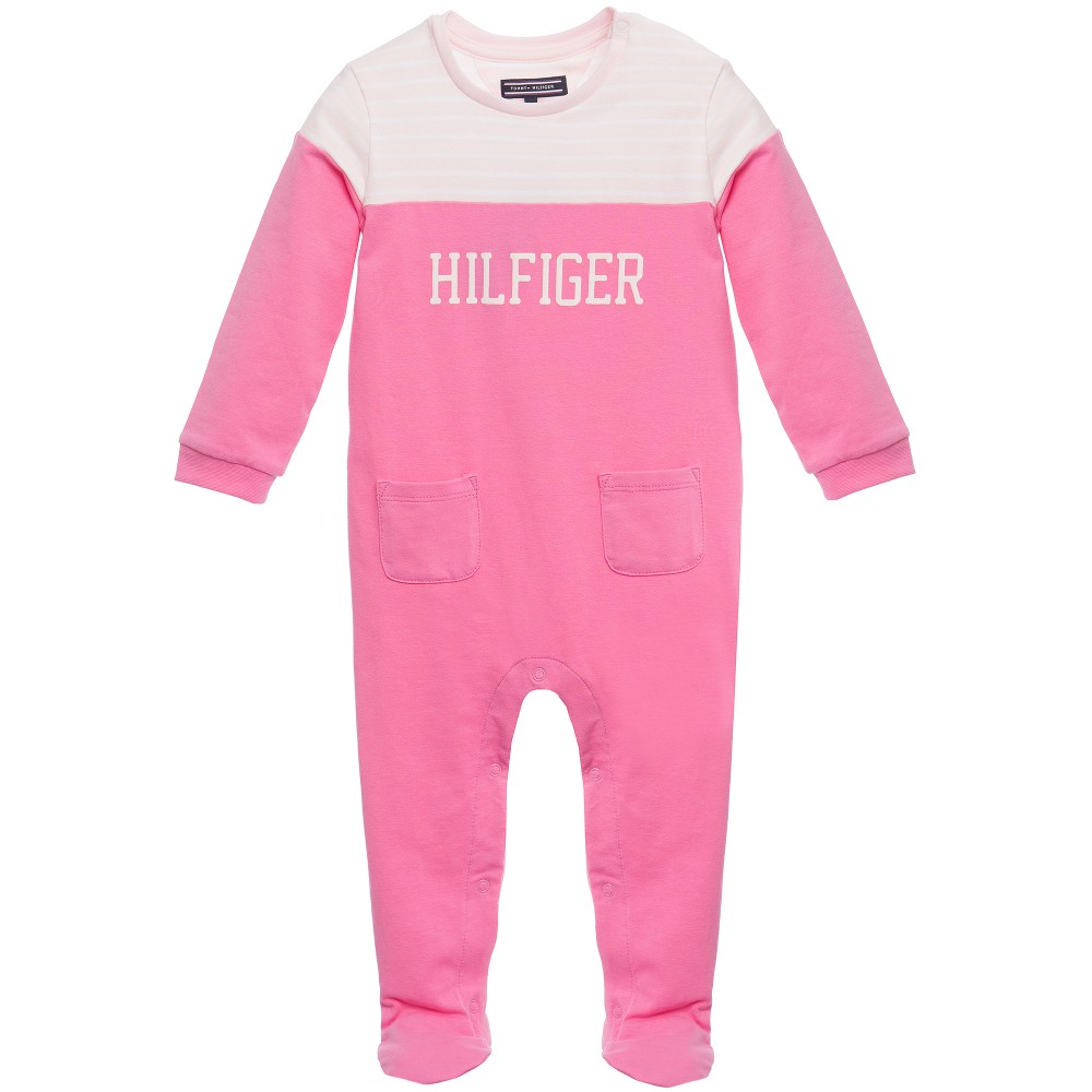 tommy-hilfiger-girls-fuchsia-pale-pink-stripy-cotton-babygrow-1