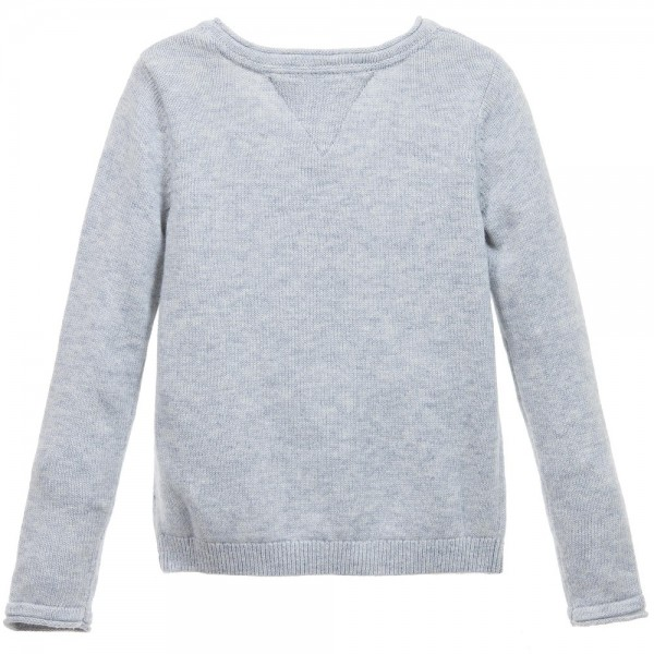 tommy-hilfiger-girls-grey-knitted-sweater-with-flowers-2