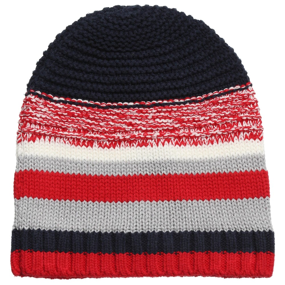 TOMMY HILFIGER Girls Red   Navy Blue Striped Hat - Children Boutique 7a030108fd3