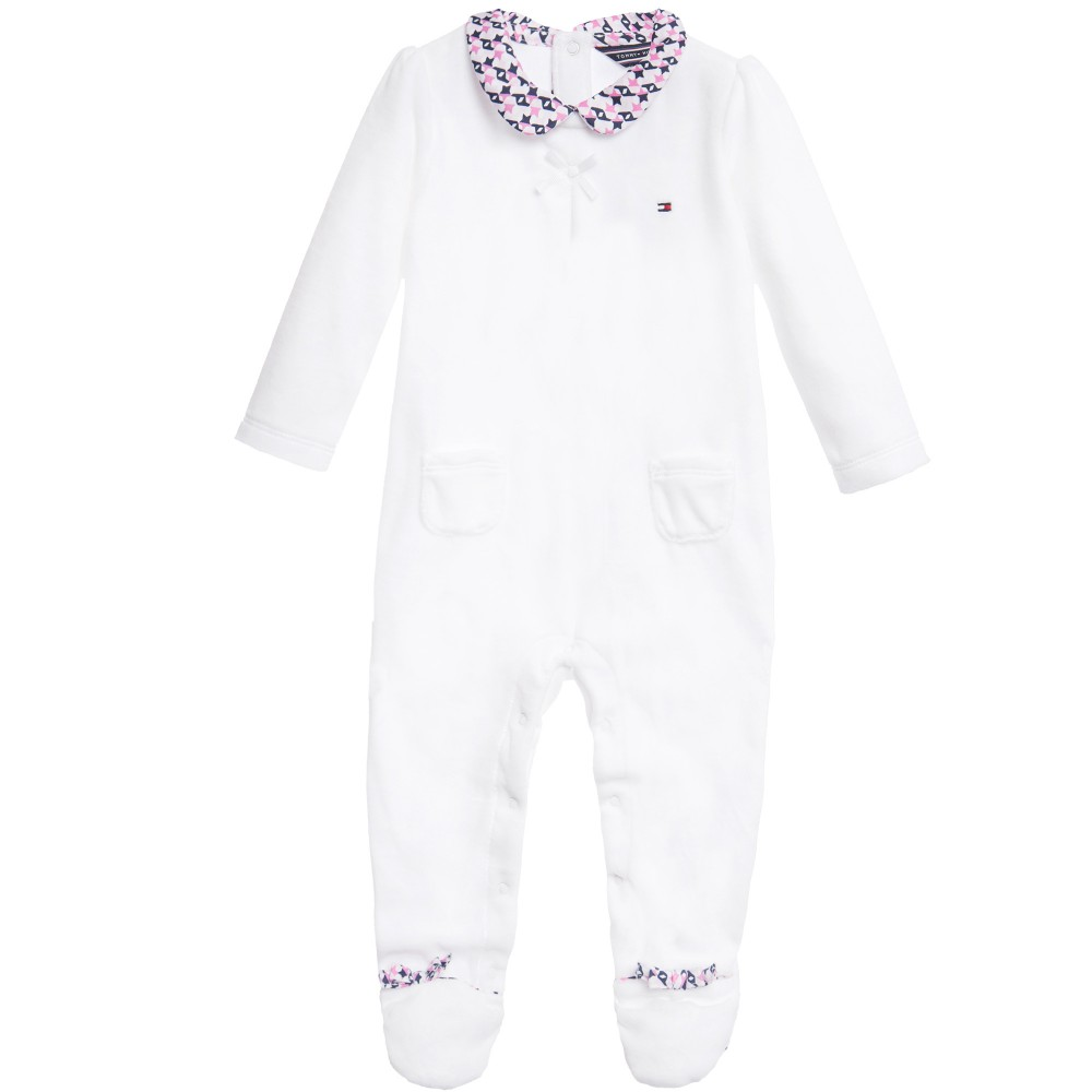 tommy-hilfiger-girls-white-velour-babygrow-with-stars-print-1