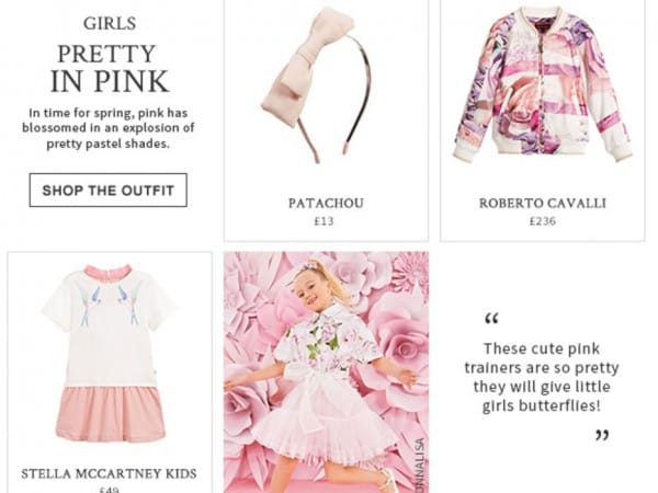 Girls pretty in pink designers loutfit