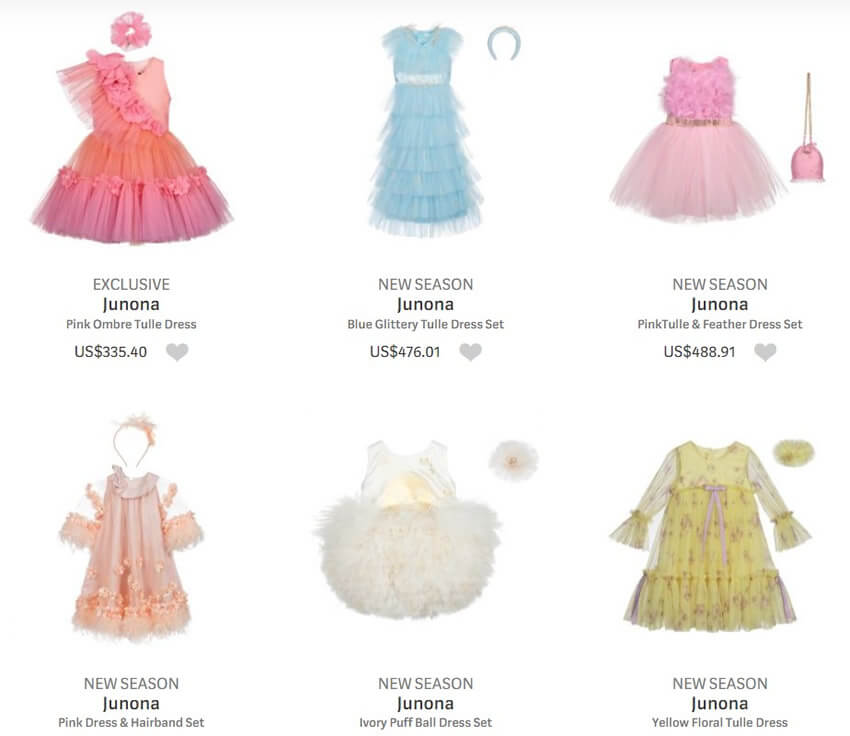 Junona Dresses and Accessories for Little Ladies