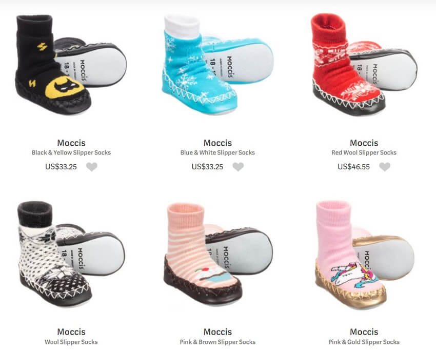 Moccis Luxury Slipper Socks for Kids