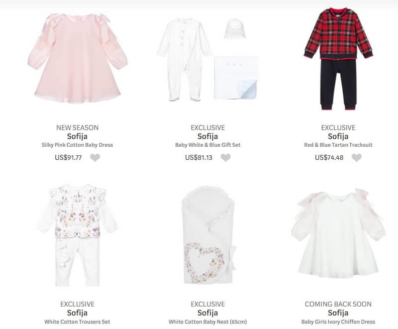 Sofija Designer Clothes for Baby Boys and Girls