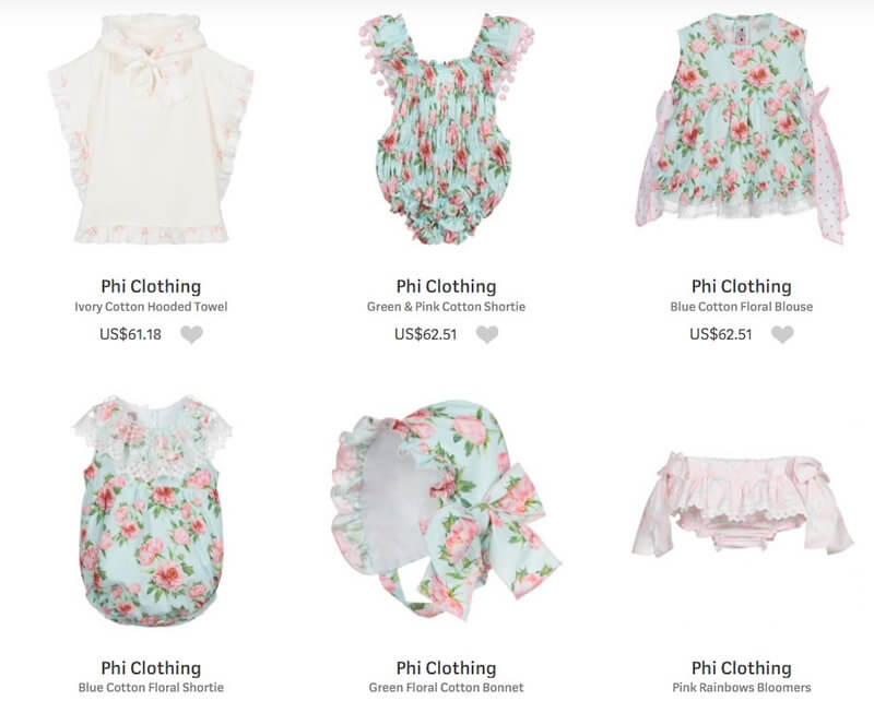 Phi Clothing for Newborns and Children